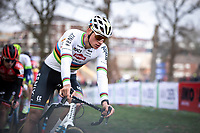 eventual winner Mathieu Van der Poel (NED/Alpecin Fenix) cornering <br /> <br /> <br /> Men Elite Race<br /> UCI Cyclocross Worldcup – Hoogerheide (Netherlands)<br /> <br /> ©kramon