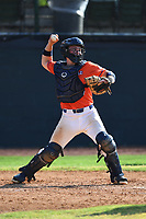 Ben Rozenblum (7) (Florida International) of the Kingsport Axemen during a game against the Bristol State Liners on June 13, 2021 at Boyce Cox Field in Bristol, Virginia. (Tracy Proffitt/Four Seam Images)