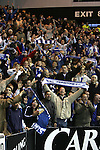 Rangers v St Johnstone....08.11.06   CIS Cup Quarter Final.Saints fans celebrate their tema victory..Picture by Graeme Hart..Copyright Perthshire Picture Agency.Tel: 01738 623350  Mobile: 07990 594431
