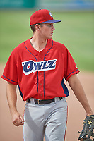 David Clawson (24) of the Orem Owlz during the game against the Idaho Falls Chukars at Melaleuca Field on July 14, 2019 in Idaho Falls, Idaho. The Owlz defeated the Chukars 6-2. (Stephen Smith/Four Seam Images)