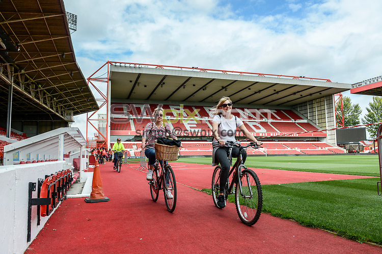 Picture by Dean Atkins/SWpix.com - 05/08/2018 - HSBC Let's Ride, Nottingham, England - Riders take to the track around the Nottingham Forest Ground