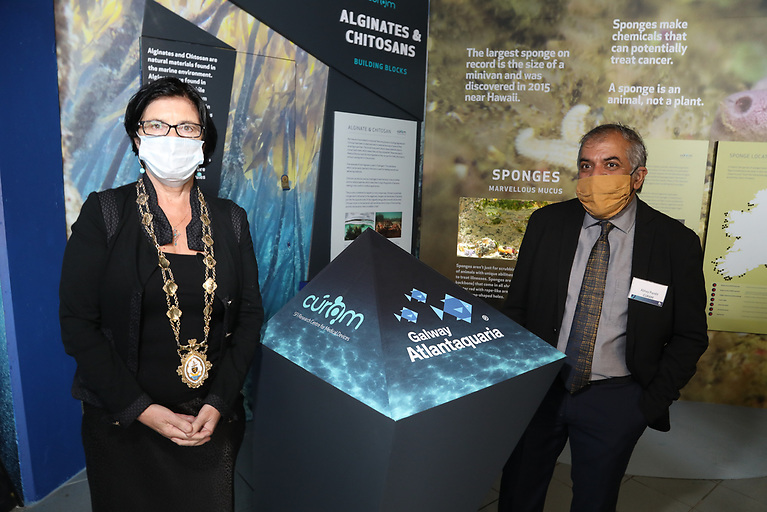 Mayor of Galway City, Colette Connolly with Professor Abhay Pandit, Scientific Director of CÚRAM, NUI Galway