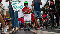 NEW YORK, NEW YORK - SEPTEMBER 31: People march through streets to protest for safe re-opening schools during the COVID-19 pandemic on September 1, 2020 in New York.  NYC Mayor Bill de Blasio announced that school system will delay in-person instructions by at least 11 days to allow extra time to prepare to meet students amid the coronavirus pandemic.. (Photo by Eduardo MunozAlvarez/VIEWpress via GettyImages)