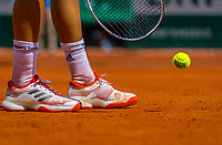 Paris, France, 31 May, 2017, Tennis, French Open, Roland Garros, Tennisplayer with ball and racket,<br /> Photo: Henk Koster/tennisimages.com