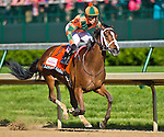 MAY 1, 2015: Lovely Maria, ridden by jockey Kerwin Clark, wins the Kentucky Oaks for owner Brereton Jones and trainer Larry Jones at Churchill Downs in Louisville, Kentucky. Scott Serio/ESW/CSM