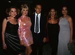LELLA CURIEL, IVANA TRUMP, FAWAZ GRUOSI, URSULA ANDRESS E ORNELLA MUTI<br /> FESTA GRUOSI - HOTEL DE RUSSIE ROMA 2000