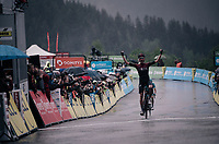 Wout Poels (NED/Ineos) wins the rain soaked queen stage of the 2019 Dauphiné<br /> <br /> Stage 7: Saint-Genix-les-Villages to Pipay  (133km)<br /> 71st Critérium du Dauphiné 2019 (2.UWT)<br /> <br /> ©kramon
