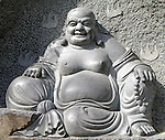 Stone Buddha Statue at temple in Xian, China.