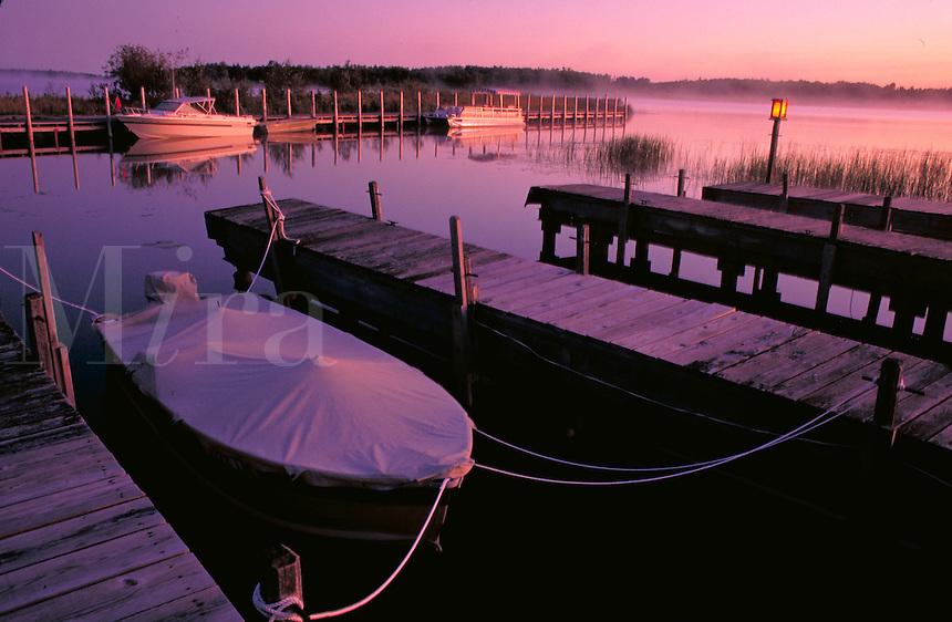 Dawn on the North Channel of Lake Huron. Drummond Island Michigan USA.