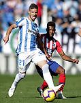 CD Leganes' Ruben Perez (r) and Atletico de Madrid's Thomas Lemar during La Liga match. November 3,2018. (ALTERPHOTOS/Acero)