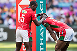 Kenya vs New Zealand during the their Semi-Finals match as part of the HSBC Hong Kong Rugby Sevens 2018 on 08 April 2018, in Hong Kong, Hong Kong. Photo by Chung Yan Man / Power Sport Images