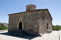 Zypern (Süd), Kirche Tiomios Stavros in Pelendri im Troodos-Gebirge, erbaut um 1.400, Unesco-Weltkulturerbe