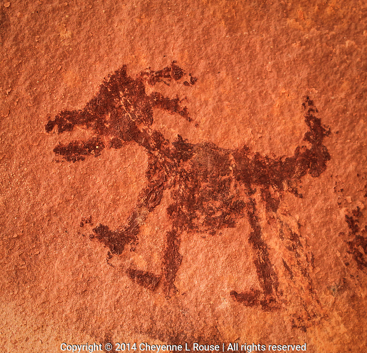 Big Horn Sheep Pictograph - Sedona, Arizona