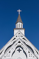 Country church detail, Cornwall, Connecticut, USA
