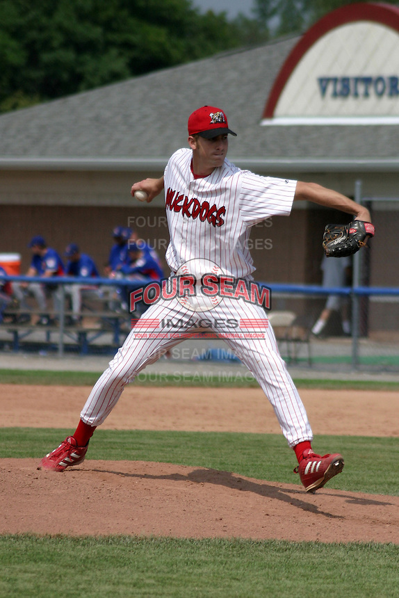 August 16, 2003:  pitcher Zach Minor of the Batavia Muckdogs during a game at Dwyer Stadium in Batavia, New York.  Photo by:  Mike Janes/Four Seam Images