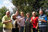 group toasting in wine bordeaux france