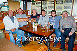 Enjoying the evening in Kirby's Bar in Ballyheigue on Sunday, l to r: Joe Reidy, Pa Cashman, Edward Dowling, Tony Collins, Brendan Moynihan and Michael Nealon.