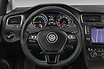 Car pictures of steering wheel view of a 2015 Volkswagen GOLF e-Golf 5 Door Hatchback 2WD Steering Wheel