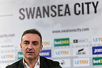 Carlos Carvalhal gives his first press conference after being unveiled as New Swansea City Manager at The Fairwood Training Ground in Swansea, Wales, UK. Thursday 28 December 2017