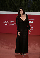 """Italian actress Pino Turco poses on the red carpet for the screening of the film """"Les Discours"""" during the 15th Rome Film Festival (Festa del Cinema di Roma) at the Auditorium Parco della Musica in Rome on October 19, 2020.<br /> UPDATE IMAGES PRESS/Isabella Bonotto"""