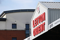 The Leyton Orient sign during Leyton Orient vs Oldham Athletic, Sky Bet EFL League 2 Football at The Breyer Group Stadium on 11th September 2021