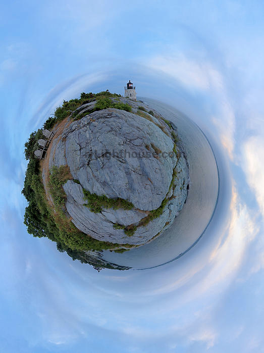 A little planet view of Castle Hill Lighthouse