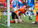 Dundee Utd v St Johnstone..26.12.12      SPL.Brian McLean screams in frustration as he scores an own goal.Picture by Graeme Hart..Copyright Perthshire Picture Agency.Tel: 01738 623350  Mobile: 07990 594431