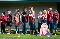 STANFORD, CA - October 21, 2018: Families at Laird Q. Cagan Stadium. No. 1 Stanford Cardinal defeated No. 15 Colorado Buffaloes 7-0 on Senior Day.