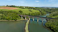 BNPS.co.uk (01202 558833)<br /> Pic: Savills/BNPS<br /> <br /> Pictured: Forder Railway Viaduct.<br /> <br /> A former tidal mill next to an impressive viaduct that looks like the perfect backdrop for a children's book is on the market for £3.5m.<br /> <br /> The Old Mill is over 600 years old and would be an ideal home for Swallows and Amazons or The Railway Children-inspired adventures.<br /> <br /> The impressive Grade II listed six-bedroom house has its own private harbour and panoramic views of the much-photographed Forder Railway Viaduct.<br /> <br /> It is only the second time the property in Cornwall has been on the market since 1886 and agents Savills say it is a once in a lifetime opportunity.