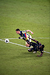 Federico Vinas of Club America (MEX) and Jesus Murillo of Los Angeles FC (USA) in action during their CONCACAF Champions League Semi Finals match at the Orlando's Exploria Stadium on 19 December 2020, in Florida, USA. Photo by Victor Fraile / Power Sport Images