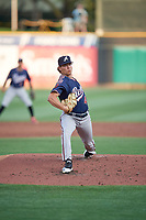 Reno Aces starting pitcher Tyler Holton (43) throws home during the game against the Salt Lake Bees at Smith's Ballpark on August 24, 2021 in Salt Lake City, Utah. The Aces defeated the Bees 6-5. (Stephen Smith/Four Seam Images)