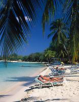 Jamaika, Westmoreland, am Traumstrand Negril Beach   Jamaica, Westmoreland, Negril Beach