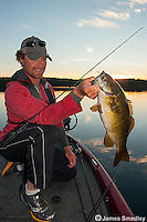 Evening bass fishing