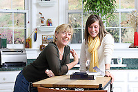 {November 7, 2009} 11:23:44 AM -- Fredericksburg, VA. -- Jody Williams, a Nobel Peace prize winner for her work in eradicating land mines, left, has pulled together a cookbook with recipes from other Nobel laureates and people who have worked for peace. She did the work in combination with her stepdaughter Emily Goose, right, as part of Emily's high school senior project.  ... -- ...Photo by Andrew B. Shurtleff, Freelance.