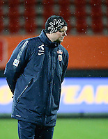 20160302 – ROTTERDAM ,  NEDERLAND : Norway's coach Roger Finjord pictured during the Olympic Qualification Tournament  soccer game between the women teams of Norway and Sweden, The first game for both teams in the Olympic Qualification Tournament for the Olympic games in Rio de Janeiro - Brasil, Wednesday 2 March 2016 at Stadion Woudestein in Rotterdam , Netherlands  PHOTO DIRK VUYLSTEKE