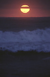 Sunset in The Pacific Ocean off the coast of Monterey, CA. (Jim Bryant Photo).....