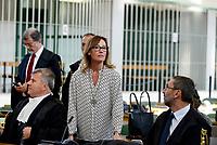 Roma, 20 Ottobre 2017<br /> Ilaria Cucchi.<br /> Aula Bunker di Rebibbia<br /> Seconda udienza udienza del nuovo processo per la morte di Stefano Cucchi che vede imputati 5 Carabinieri.<br /> Il nuovo processo è stato rinviato al 16  Novembre  alla Prima Corte D'Assise dopo che la presidente della Terza Corte d'Assise si è astenuta per incompatibilità, visto che era stata già giudice del primo processo per la morte del giovane.