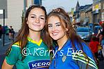 Enjoying the evening in Killarney on Saturday, l to r: Jade Costello (Killorglin) and Alicia Burke (Fossa).