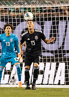 CHICAGO, IL - JULY 7: Hector Moreno #15 during a game between Mexico and USMNT at Soldiers Field on July 7, 2019 in Chicago, Illinois.
