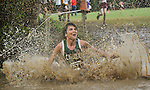 Runners splash across creek during the 2012 Randolph School Cross Country Classic Tuesday afternoon Sept. 18, 2012 on the UAH campus. 48 schools and over 1300 high school students participated in the event.  (The Huntsville Times/Bob Gathany)