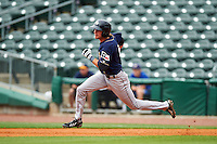 San Antonio Missions outfielder Travis Jankowski (6) runs the bases after hitting a double during a game against the NW Arkansas Naturals on May 31, 2015 at Arvest Ballpark in Springdale, Arkansas.  NW Arkansas defeated San Antonio 3-1.  (Mike Janes/Four Seam Images)