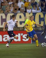Sweden midfielder Josefine Oqvist (14). The US Women's national team beat Sweden, 3-0, at Rentschler Field on July 17, 2010.