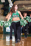 North Texas Mean Green cheerleaders in action during the game between the Lehigh Mountain Hawks and the North Texas Mean Green at the Super Pit arena in Denton, Texas. Lehigh defeats UNT 90 to 75...