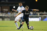 San Jose, CA - Wednesday June 28, 2017: Ray Saari, Tommy Thompson during a U.S. Open Cup Round of 16 match between the San Jose Earthquakes and the Seattle Sounders FC at Avaya Stadium.