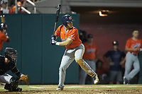 Brendan Venter (8) of the Auburn Tigers at bat against the Army Black Knights at Doak Field at Dail Park on June 2, 2018 in Raleigh, North Carolina. The Tigers defeated the Black Knights 12-1. (Brian Westerholt/Four Seam Images)
