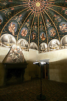 Affreschi di Correggio nella cupola della Camera di San Paolo a Parma.<br /> The frescoed dome by Correggio in the Camera di San Paolo (St. Paul's Room), Parma.<br /> UPDATE IMAGES PRESS/Riccardo De Luca
