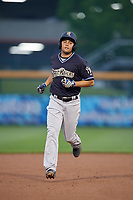 Scranton/Wilkes-Barre RailRiders Breyvic Valera (7) rounds the bases after hitting a home run during an International League game against the Buffalo Bisons on June 5, 2019 at Sahlen Field in Buffalo, New York.  Scranton defeated Buffalo 4-0, the second game of a doubleheader.  (Mike Janes/Four Seam Images)