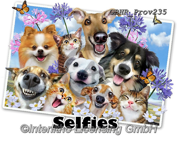 Howard, REALISTIC ANIMALS, REALISTISCHE TIERE, ANIMALES REALISTICOS, selfies, paintings+++++Selfie fun in the sun,GBHRPROV235,#a#, EVERYDAY