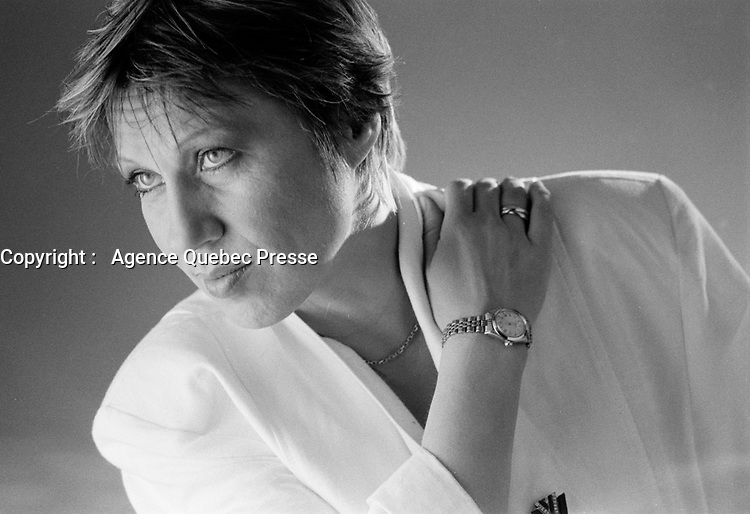 la chanteuse d'origine allemande Eva Dietrich<br /> (EVA) en 1986<br /> <br /> PHOTO :  Agence Quebec Presse