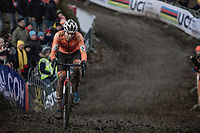Joris Nieuwenhuis (NED) chasing. <br /> <br /> Men U23 Race<br /> UCI CX Worlds 2018<br /> Valkenburg - The Netherlands